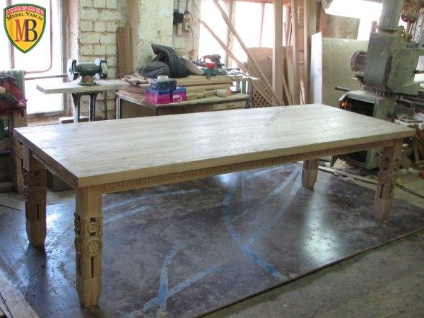 Процесс изготовление мебели из массива